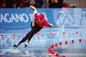 Canadian speed skater Linda JohnsonBlair competes in the women's 1000m at MWave during the 1998 Winter Olympic games