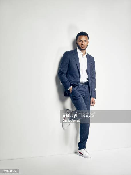 Canadian sprinter Andre De Grasse is photographed for Dressed To Kill Magazine on April 1 2017 in Los Angeles California