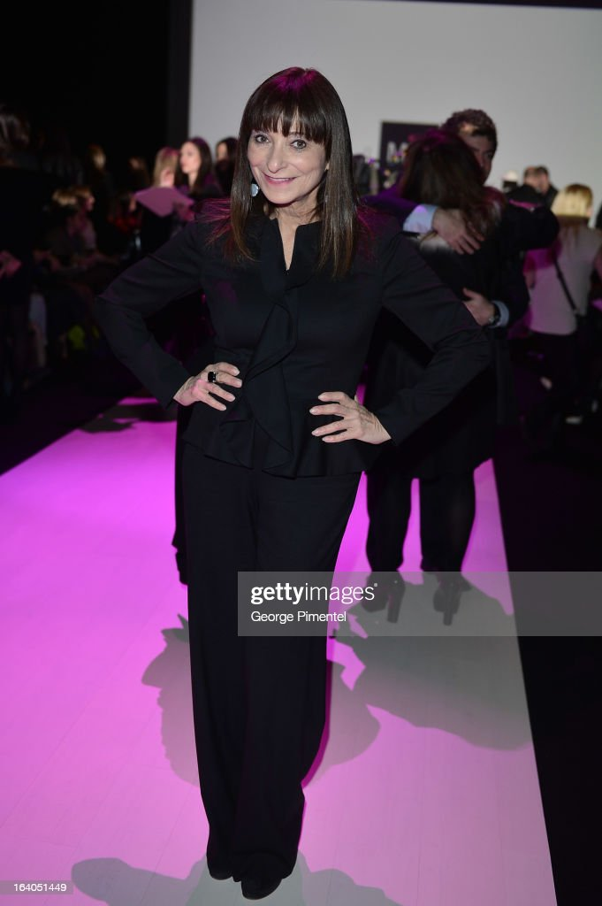 Canadian television personality Jeanne Beker attends World MasterCard Fashion Week Fall 2013 Collection at David Pecaut Square on March 18, 2013 in Toronto, Canada.