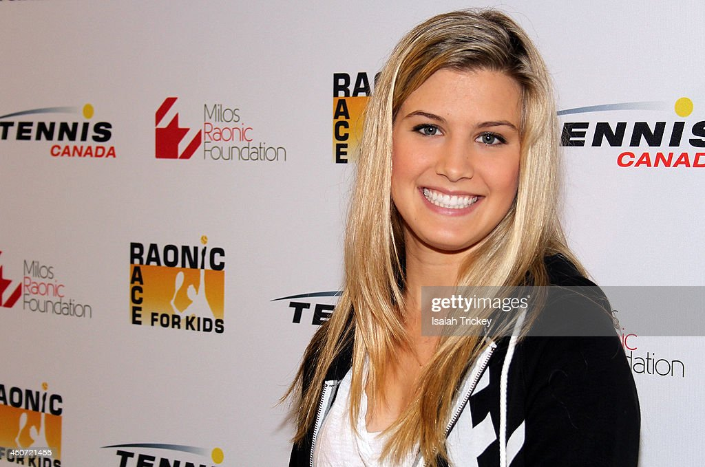 Canadian Tennis Player <a gi-track='captionPersonalityLinkClicked' href=/galleries/search?phrase=Eugenie+Bouchard&family=editorial&specificpeople=5678779 ng-click='$event.stopPropagation()'>Eugenie Bouchard</a> attends The 2nd Annual Raonic Race For Kids Fundraiser Benefitting The Milos Raonic Foundation on November 19, 2013 in Toronto, Canada.
