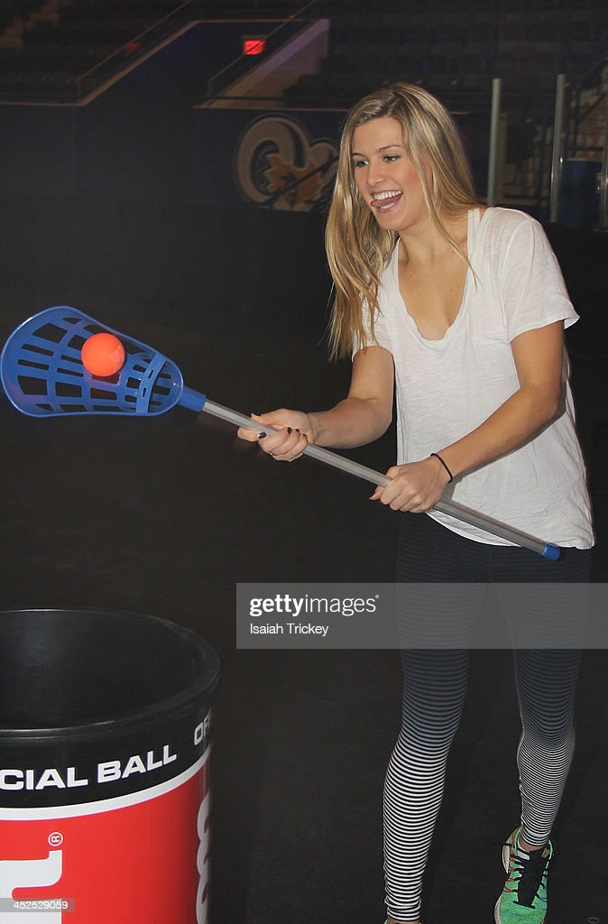 Canadian Tennis Player <a gi-track='captionPersonalityLinkClicked' href=/galleries/search?phrase=Eugenie+Bouchard&family=editorial&specificpeople=5678779 ng-click='$event.stopPropagation()'>Eugenie Bouchard</a> competes in The 2nd Annual Raonic Race For Kids Fundraiser Benefitting The Milos Raonic Foundation on November 19, 2013 in Toronto, Canada.