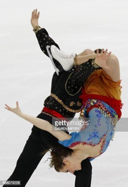 Canadian Tessa Virtue and Scott Moir perform during the original dance program during the ISU Grand Prix figure skating final 14 December 2007 in...