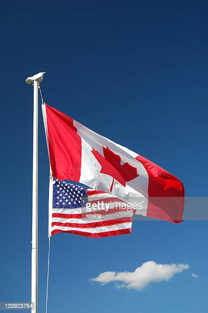 Canadian & United States Flags