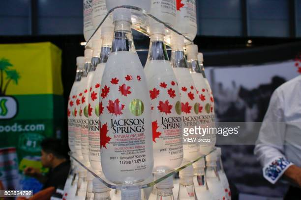 Canadian water are displayed at the Annual Summer Fancy Food Show on June 262017 at the Javits Center in New York City