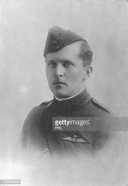 Canadian World War I fighter ace Billy Bishop of the British Royal Flying Corps circa 1916 He was officially credited with 72 victories