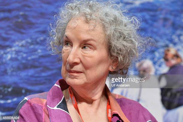 VINCENNES FRANCE SEPTEMBER 13 Canadian writer Margaret Atwood attends the book fair America on September 13 2014 in Vincennes France
