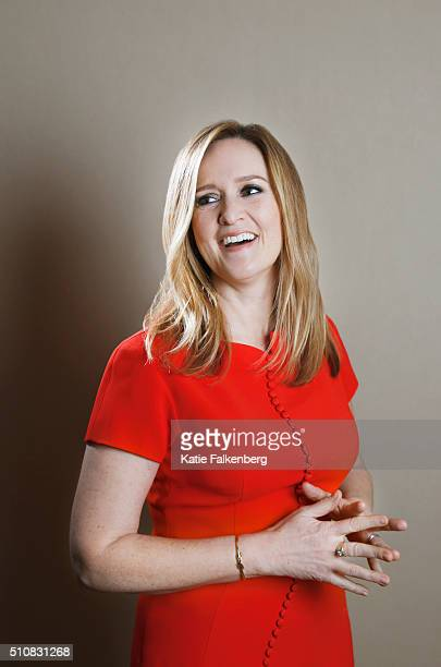 CanadianAmerican comedian writer producer actress media critic and television host Samantha Bee is photographed for Los Angeles Times on January 7...