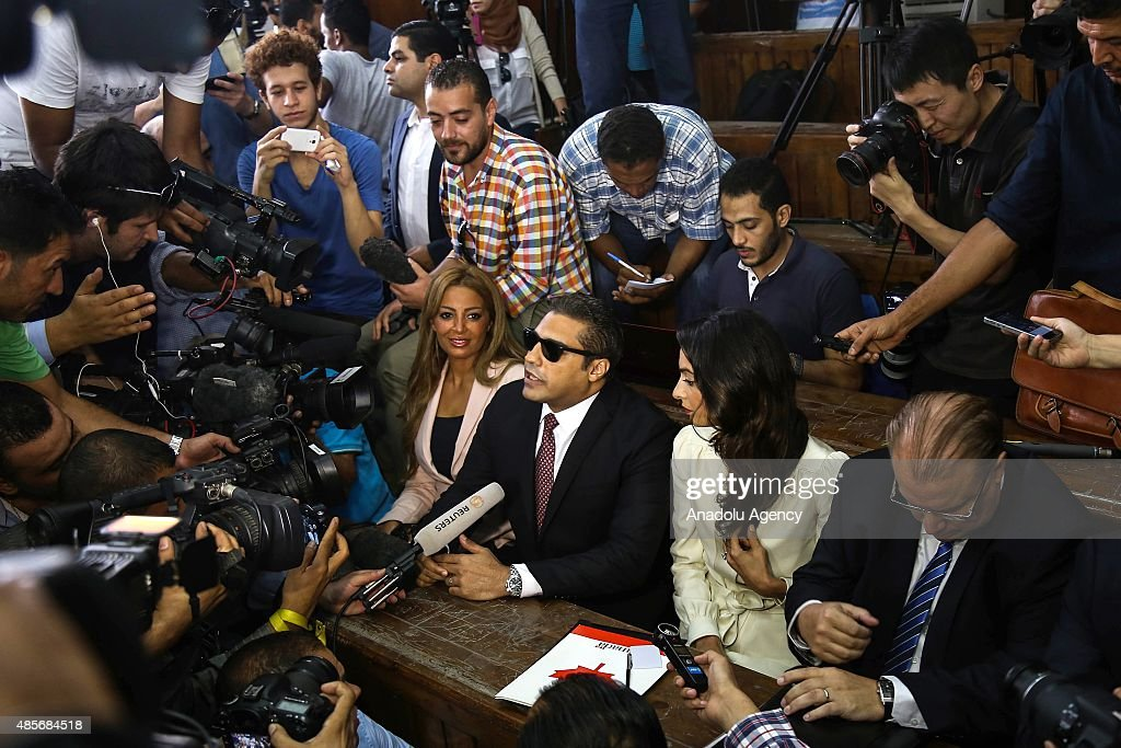 CanadianEgyptian AlJazeera journalist Mohamed Fahmy one of the three reporters sentenced to three year in jail by Egyptian court his fiancee Marwa...