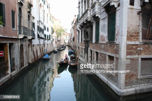 Canal and cityscape : Stock Photo