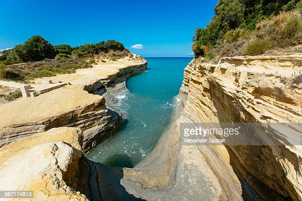 Canal D'Amour beach near Sidari, Corfu, Greece
