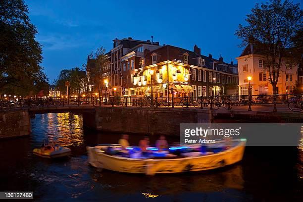 Canal, dusk, Amsterdam, The Netherlands, Holland