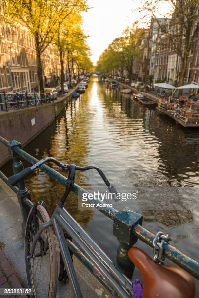 Canal in central Amsterdam.