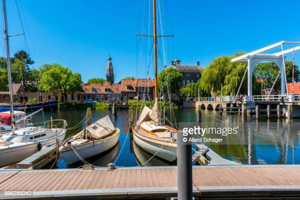 Canal in Enkhuizen Netherlands
