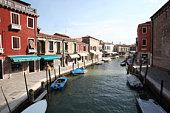 Canal in Murano Island, Murano, Venice, Italy
