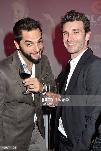 Canal Plus journalists Diego Bunuel and Manuel Herrero from Les Nouveaux Explorateurs attends the 'All4Kids' PL4Y International Launch Party At The...