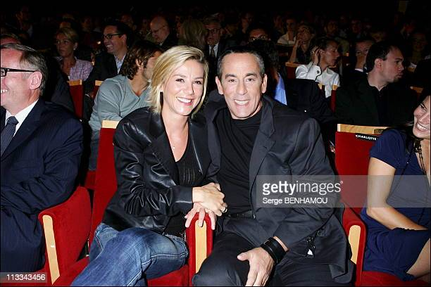 Canal Press Conference At The RondPoint Theater In Paris On August 31St 2006 In Paris France Here Laurence Ferrari And Thierry Ardisson