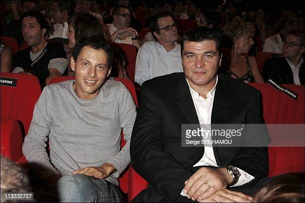 Canal Press Conference On August 31St 2005 In Paris France Here Marc Olivier Fogiel And David Douillet