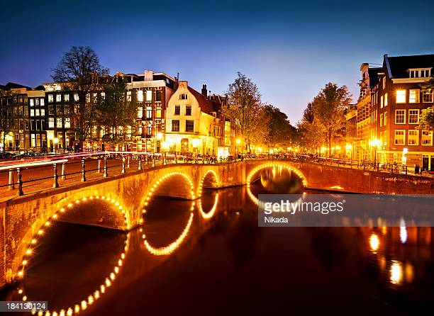 Canal Scene in Amsterdam