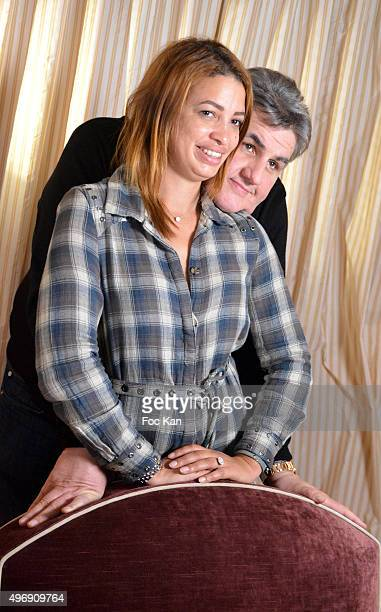 Canal sport journalist Pierre Menes and a guest attend the 'Cinema Et Musique De Film' Festival At La Baule Day Two At Hotel Hermitage Barriere in la...