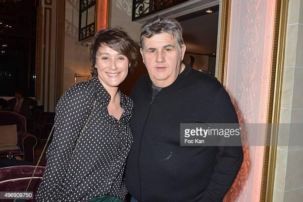 Canal sport journalist Pierre Menes and Daniela Lumbroso attend the 'Cinema Et Musique De Film' Festival At La Baule Day Two At Hotel Hermitage...