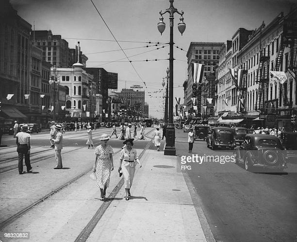 Canal Street in New Orleans Louisiana circa 1937