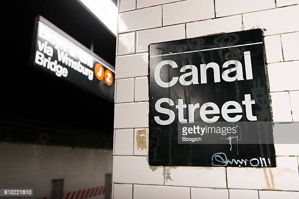 NYC Canal Street Subway Station Informational Sign Travel Destinations