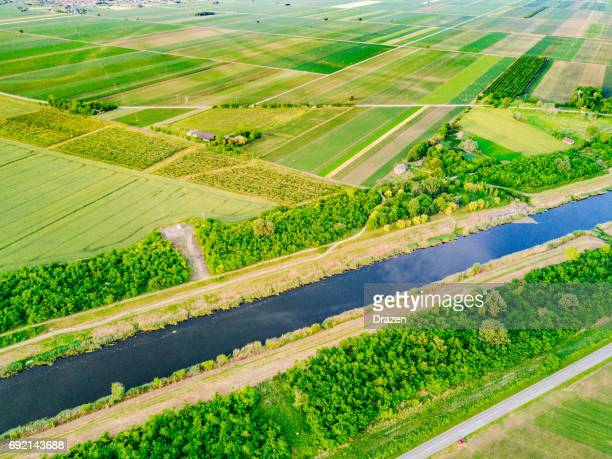 Canals spreading around farms for easier irrigation
