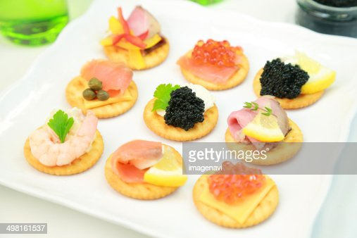 Canapes stock photo getty images for Types of canape bases