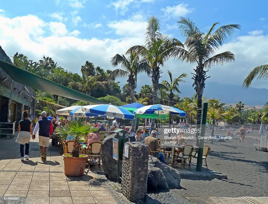Canary Island beach scene