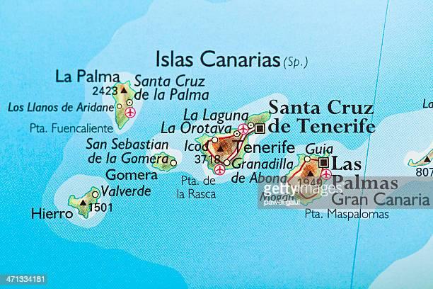 カナリア諸島、スペインのマップ
