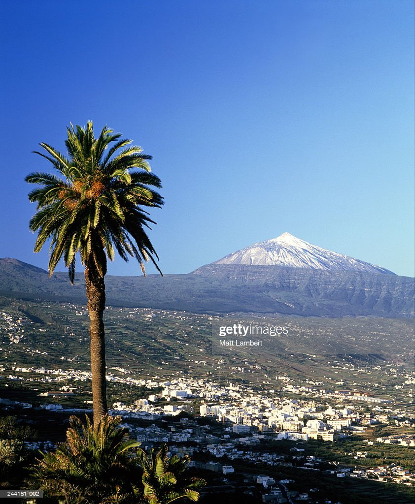 Canary Islands,Tenerife,Ortava with Mount Teide in background : Stock Photo