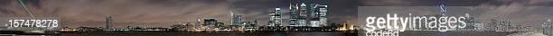 Canary Wharf (London) - 180 degree panorama, XXXL