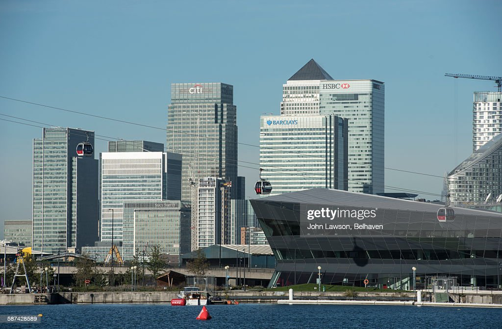 Canary Wharf and The Crystal, East London