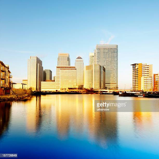 Canary Wharf at dawn