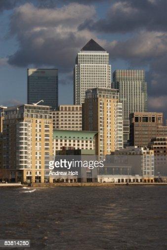 Canary Wharf buildings skyline Londo : Foto de stock