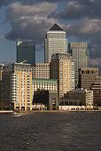 Canary Wharf buildings skyline Londo