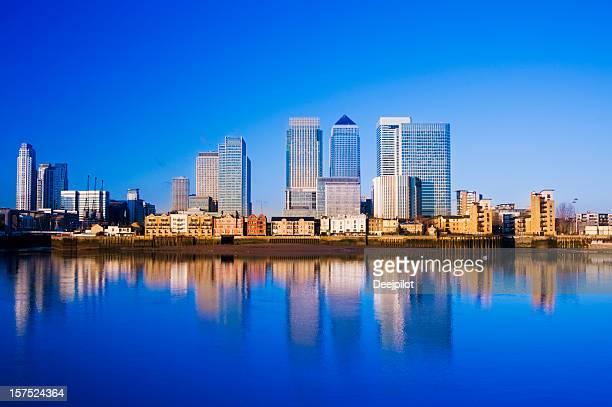 Canary Wharf City Skyline London UK
