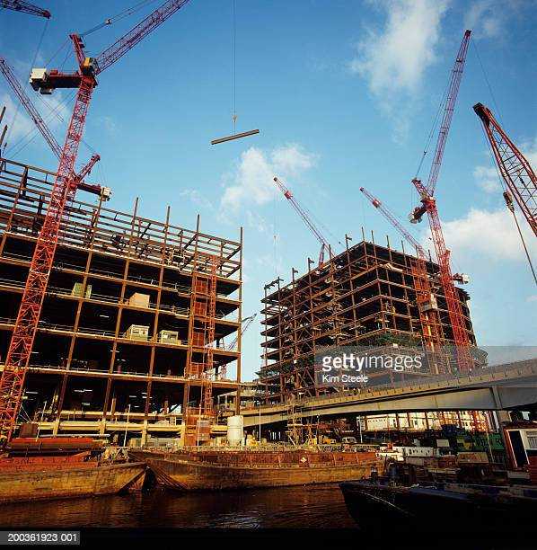 Canary wharf construction, Europe's largest steelwork