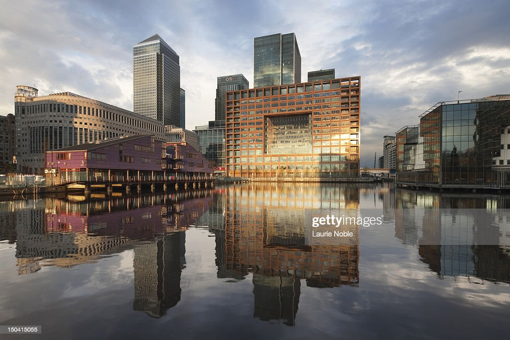 Canary Wharf, London, England : Stock Photo