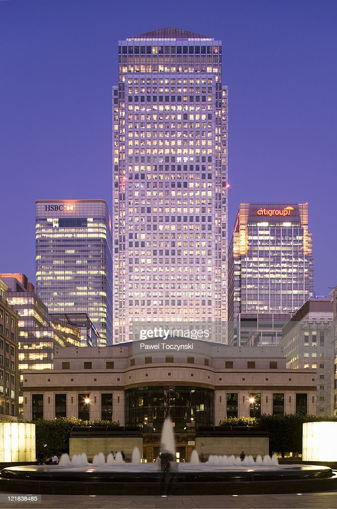 Canary Wharf, One Canada Square, the tallest building in the UK, London