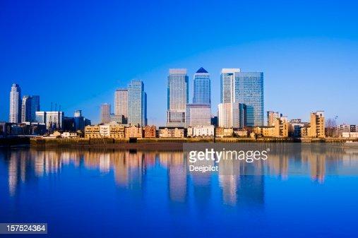 Canary Wharf Skyline von London, GB