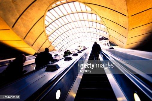 U-Bahn-station Canary Wharf in London