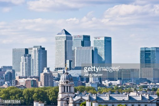 Canary Wharf viewed from Greenwich Park, London