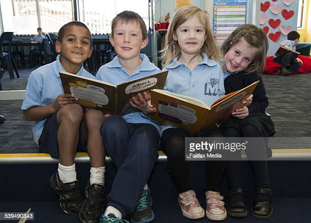 Canberra Chronicle Kids Pics August 7 2014 Maribrynong Primary School Kindergarten students Kale Whittingham Hayden Baillie Katelyn Tite and Lucy...
