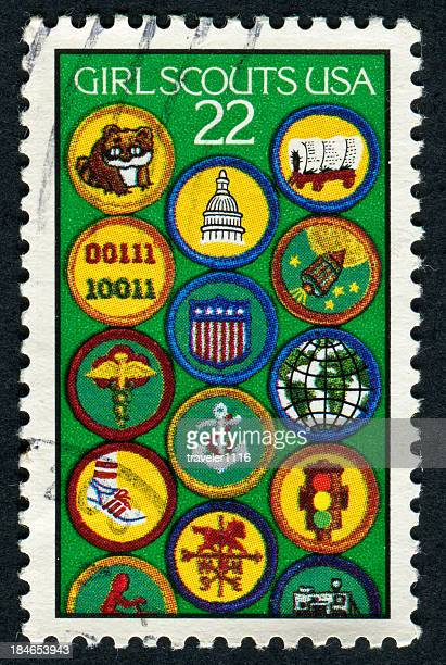 Cancelled Stamp Of The Girl Scouts USA