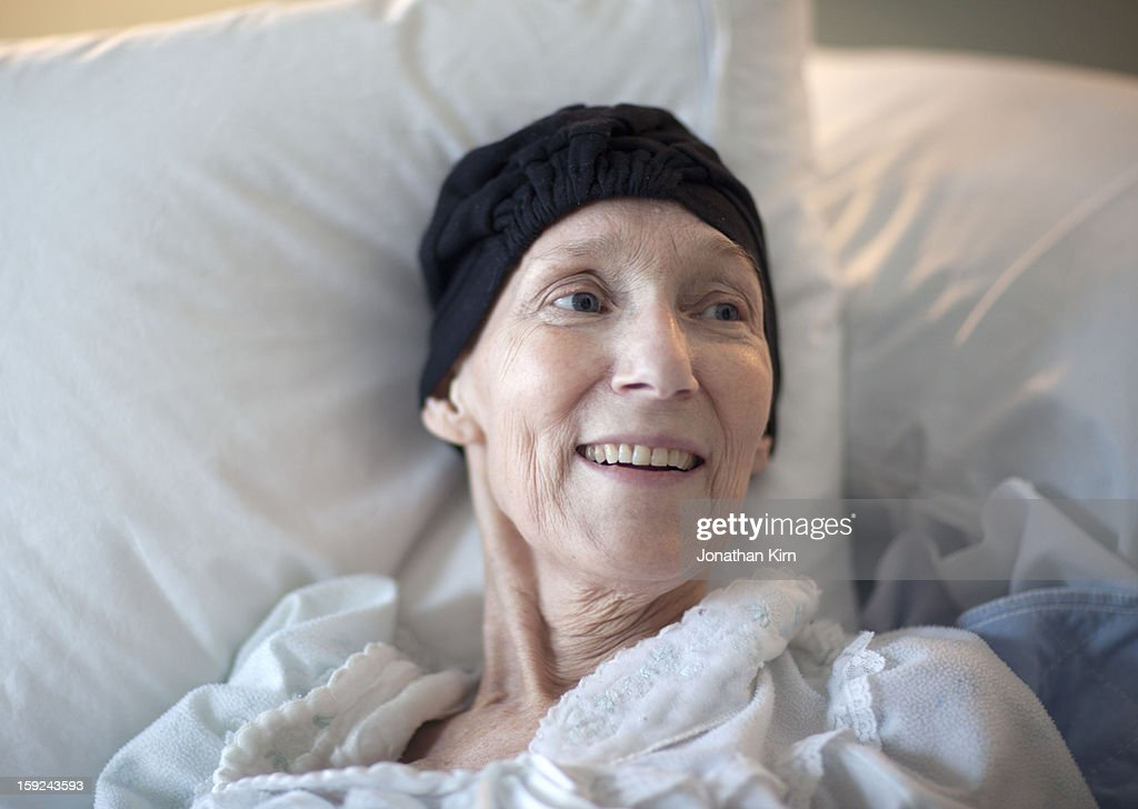 Cancer patient in hospice care.