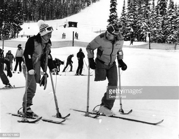 Cancer patient Martha Araguar left gets tips on technique from Winter Park ski instructor Judy Kaplan Credit Denver Post