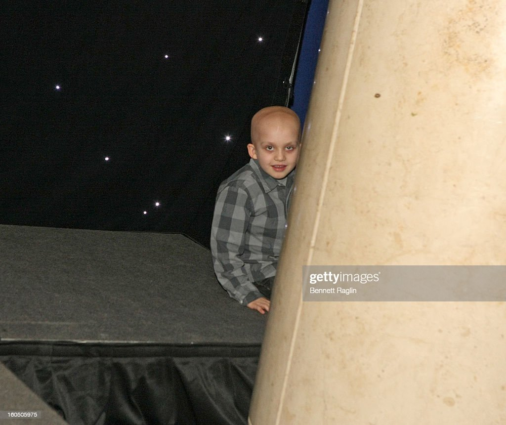 Cancer patient Mason Vanvickle attends The New York Rangers 19th Annual 'Skate With The Greats' Event Benefiting The Ronald McDonald House New York at The Rink at Rockefeller Center on February 1, 2013 in New York City.