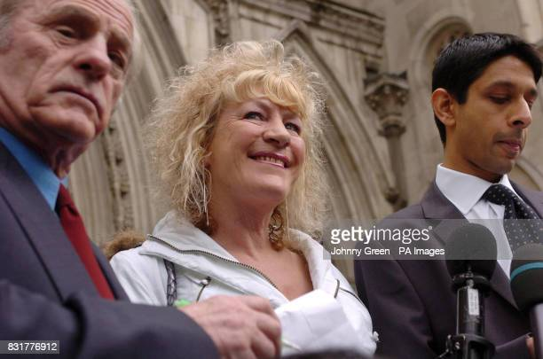 Cancer victim Ann Marie Rogers outside the Court of Appeal in London after she won her appeal against a refusal by her local NHS trust to fund her...