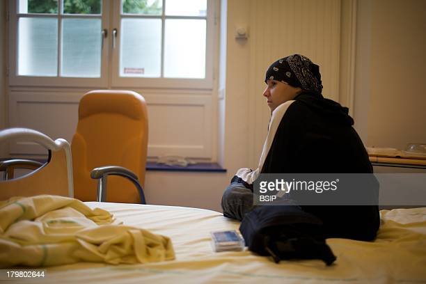 Cancerous Adolescent In Hospital This photo essay can be used only to illustrate cancer Raymond Poincare Hospital Garches in France Department of...
